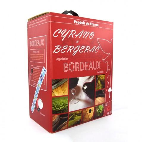 Bịch rượu Bordeaux 3L Cyrano de Bergerac mặt trược