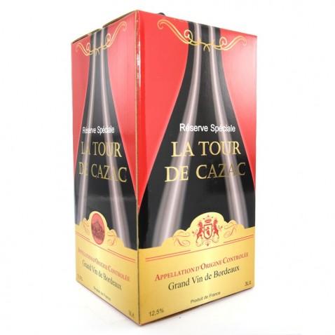 Bịch rượu Bordeaux 3L La Tour de Cazac mặt trược