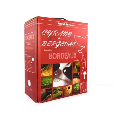 Bịch rượu Bordeaux 5L Cyrano de Bergerac mặt sau