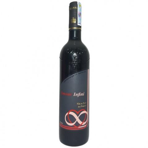 Chai Amour Infini vin de pays mặt trước