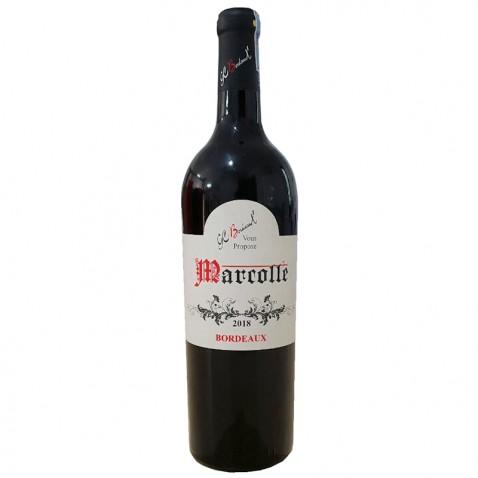 Chai rượu Bordeaux Marcolle 2018 sản phẩm cao cấp nhất ơ Pháp mặt trước