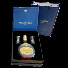 Rượu Brandy Malandrie XO hộp quà 2 ly