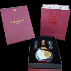 Rượu Brandy Malandrie VSOP hộp quà 2 ly